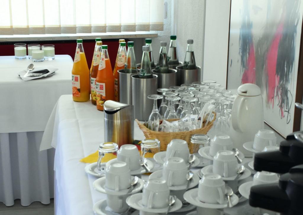 Getränkebuffet zur Tagung
