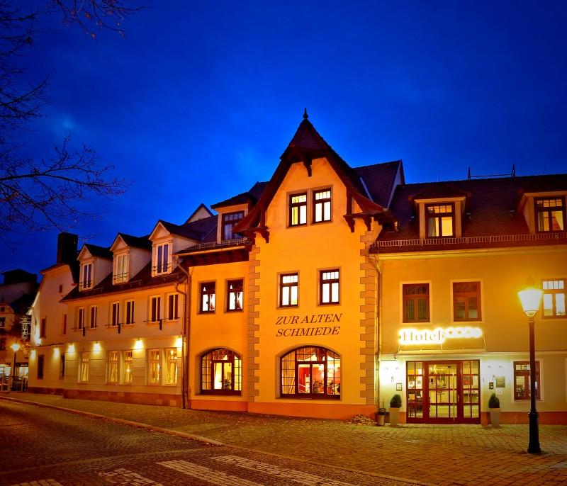 Eingang vom Hotel Zur Alten Schmiede